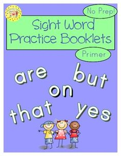 This booklet is a great way for your students to practice 52 Dolch Primer sight words. Each booklet has a title page along with 7 activities for each word: shape the word, color the word, trace the word, unscramble the word, recognize and circle the word, pyramid the word, and write the word in the sentence. A total of 312 sight word activities! I suggest cutting the pages in half and creating booklets of the different words.