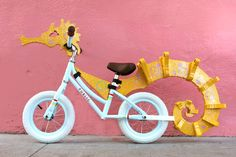 Our PUBLIC Mini Balance Bike all dressed up as a seahorse for Halloween thanks to the creativity of San Francisco designer/artist Joe Irwin. Learn to transform your balance bike into a seahorse too on our blog!
