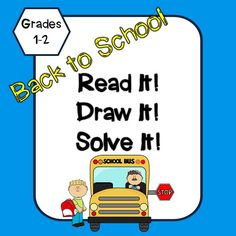 Do you need morning work or math station activities for your students? This packet includes 15 different Read It Draw It Solve It, math problems. There are addition and subtraction problems included in this packet.
