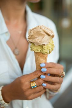 Lilac nails (and ice cream...yum!)