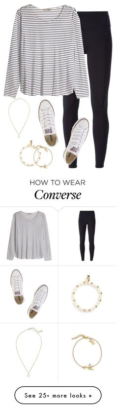 by keileeen on Polyvore featuring NIKE, H&M, Converse, Kendra Scott and Kate Spade