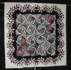 Love the color scheme and the swirl effect of the layout, and the applique border!