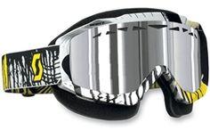 2014 Scott Hustle Chrome Oil Slick Protection Sled Winter Snowmobile Goggles