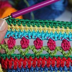 Crochet Along Regenbogen Babydecke Teil 4
