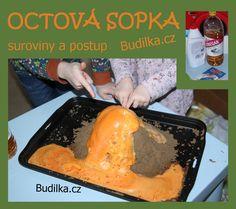octová sopka - domácí pokus - tvoření s dětmi - Budilka.cz
