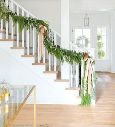 Stair garland inspo