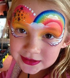 Jenny Saunders - Famous Last Words Girl Face Painting, Face Painting Designs, Body Painting, Face Paintings, Rainbow Face Paint, Mask Face Paint, Christmas Face Painting, Cheek Art, Spring Painting