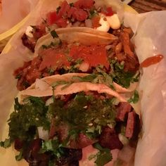 We love the tacos at Por Que No?. Be sure to check out the Taco Tuesday specials!