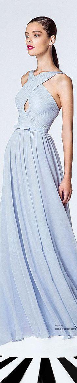 Georges Hobeika Spring Summer 2015  ♔ Light Blue Ball Gown