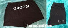 Groom boxers groom to the bum and leg groom pants usher boxers bestman boxers personalised  black wedding bride gift underwear by personaliseddiamante on Etsy