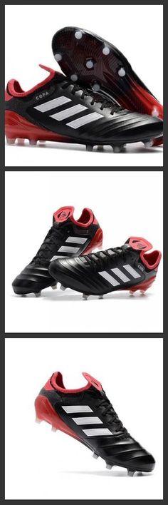 buy online 9d083 980ce Nuovi Scarpe Da Calcio Adidas Copa 18.1 FG Uomo Nero Bianco Rosso
