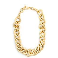 Gold Chain Link Necklace ($22) ❤ liked on Polyvore
