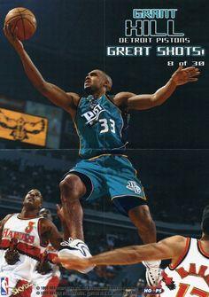 Grant Hill Pistons Basketball, Detroit Basketball, Detroit Sports, Basketball Legends, Match Point, Nba Stars, Detroit Pistons, Best Player