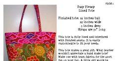 Easy Pleazy Tote.pdf  I like the straps, but no pockets
