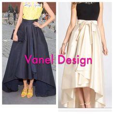 Bridesmaid Maxi Skirt with Sash Romantic Black Long by VanelDesign
