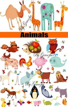 A group of animals was vector Vector misc - Free vector for free download