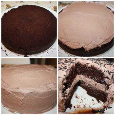 Nydelig, saftig enkel å lage sjokoladekake | Spiselise Tiramisu, Nom Nom, Cake Recipes, Food And Drink, Pie, Treats, Snacks, Cookies, Chocolate