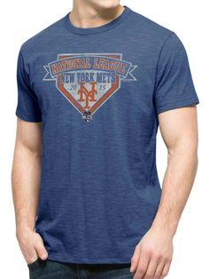 New York Mets 47 Brand 2015 NLCS MLB Postseason Blue Scrum T-Shirt