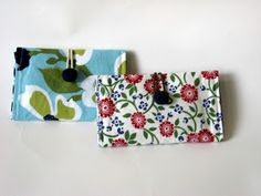 Needle and Spatula: Card Wallet Sewing Tutorial