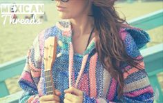 Baja Hoodies Women - Mexican Threads from Mexican Threads. Saved to Baja Hoodies. Cute Fashion, Boho Fashion, Winter Fashion, Hippie Lifestyle, Baja Hoodie, Hoodies, Sweatshirts, Cool Shirts, In This World