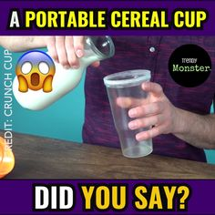 😱 A Portable Cereal did you say? or Uncool 😎 🔥LIKE and CO. 😱 A Portable Cereal did you say Kitchen Hacks, Kitchen Gadgets, Inventions Sympas, Nouvelles Inventions, Take My Money, Cool Inventions, Simple Life Hacks, Cool Gadgets, Lifehacks