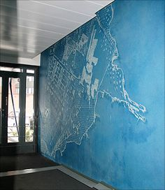 Finnish Company Graphic Concrete Specializes In Patterned And Graphical Concrete: HOW COOL IS THIS! PUT YOUR CITY HERE!!