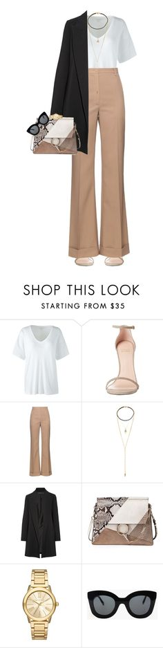 """""""Second Skin"""" by christianjay-quilo ❤ liked on Polyvore featuring Lands' End, Stuart Weitzman, Nina Ricci, Vanessa Mooney, The Row, Chloé, Michael Kors and CÉLINE"""