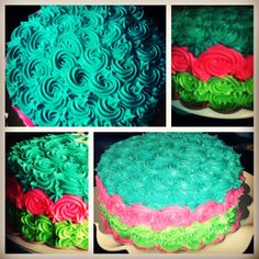 Roses cake for a Hawaiian party
