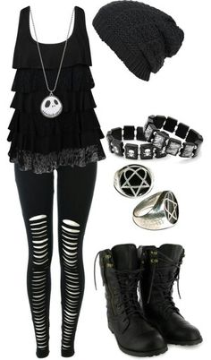 Love JACK SKELLINGTON. But I don't want those rings otherwise i love this outfit