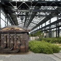 Foundries' Garden by ADH Doazan+Hirschberger « Landscape Architecture Platform Industrial Architecture, Urban Architecture, Urban Intervention, Old Factory, Contemporary Landscape, Gazebo, Around The Worlds, Outdoor Structures, Clean Slate
