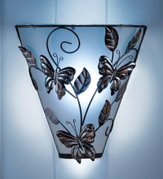 Spring-themed wall sconces (Nothing says spring time more than butterflies)