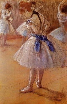 Edgar Degas. - This was one of the paintings at my friend, the artist's house when I used to pose for him when I was in college. I loved his house.