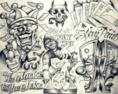 Clown drawing