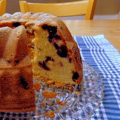 One Perfect Bite: Blueberry and Cream Cheese Pound Cake