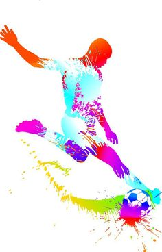 Improve Your Soccer Game With These Helpful Tips! As popular as the sport is, it's not surprising that so many people want to know more about the game of soccer. Soccer Art, Soccer Games, Football Wall, Football Bedroom, Sports Art, Soccer Players, Cool Wallpaper, Watercolor Print, Illustration Art