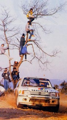 Peugeot 205, also a testament to the insanity of rally fans