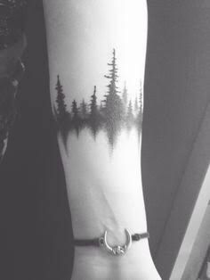 Forest mirror tattoo