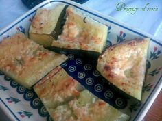 Zucchini baked with z garlic and parmesan cheese