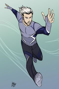 Avengers 2 Quicksilver! I really like the costume they gave him and had to draw it right away. It's not the perfect costume, but it i...