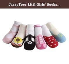 JazzyToes Littl Girls' Socks Hamptons Variety 2-4 Yrs Multi. Jazzytoes baby socks, not quite shoes! hamptons variety set is a great set with lots of variety! our designer was inspired by his weekend getaways at the hamptons and designed this wonderful set. This variety set comes in 6 new designs and 6 colors. This set is perfect to match your baby's casual outfits for the nice weather. The 6 designs include the ballet in pink, the clog in red, the casual flats in light blue, the flip…