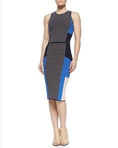 Ribbed Two-Tone Crop Top & Ribbed Mixed-Knit Colorblock Skirt by Jonathan Simkhai at Bergdorf Goodman.