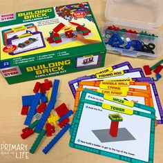 Rainy days mean extra time to play, imagine, and create. My kiddos LOVED these STEM building brick challenges from See… Crane Car, Steam Learning, Stem Steam, Fishing Rod, Engineers, Rainy Days, Brick, Lego, Challenges