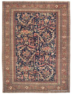 SULTANABAD - West Central Persian 8ft 9in x 11ft 9in Late 19th Century
