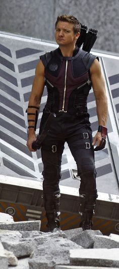 Jeremy Renner as Hawkeye in The Avengers.  Heart-stoppingly gorgeous.