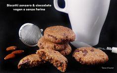 Biscotti zenzero e cioccolato vegan senza glutine senza farina  http://www.senzaebuono.it/biscotti-zenzero-e-cioccolato-senza-farina-vegan/