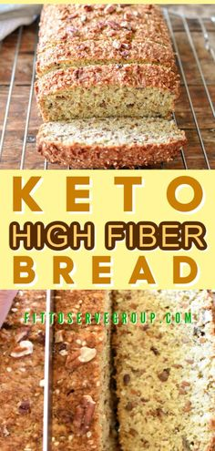 This keto high fiber bread will have you stop missing your whole wheat bread while doing keto. This this low carb high fiber bread is the solution you've been needing. It's not only a keto bread but it's high in fiber. The perfect high fiber keto breakfast bread keto high fiber bread  low carb high fiber bread  keto high fiber breakfast bread Banting Recipes, Low Carb Recipes, Lunch Recipes, Dessert Recipes, High Fiber Breakfast, Almond Flour Biscuits, Best Keto Bread, Low Carb Keto, Container Gardening