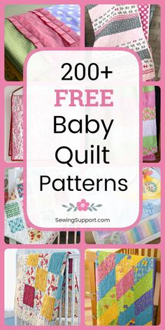 Free baby quilt sewing patterns tutorials diy project ideas Boy girl unisex and gender neutral designs Cute fun modern and traditional quilts Many simple easy designs ap. Free Baby Quilt Patterns, Baby Quilt Tutorials, Baby Sewing Projects, Sewing Patterns Free, Sewing Tips, Sewing Hacks, Sewing Tutorials, Quilting Patterns, Free Pattern