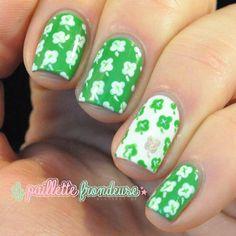 la_paillette_frondeuse St Patrick's Day #nail #nails #nailart