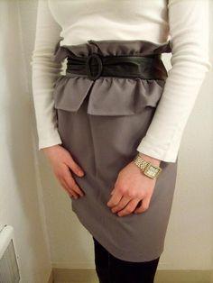 DIY Clothes DIY Refashion  DIY Ruffled peplum skirt