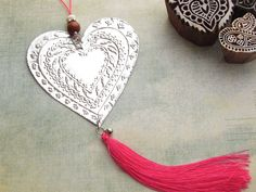 Bohemian Chic Hanging Heart Decoration Metal by FoilingStar